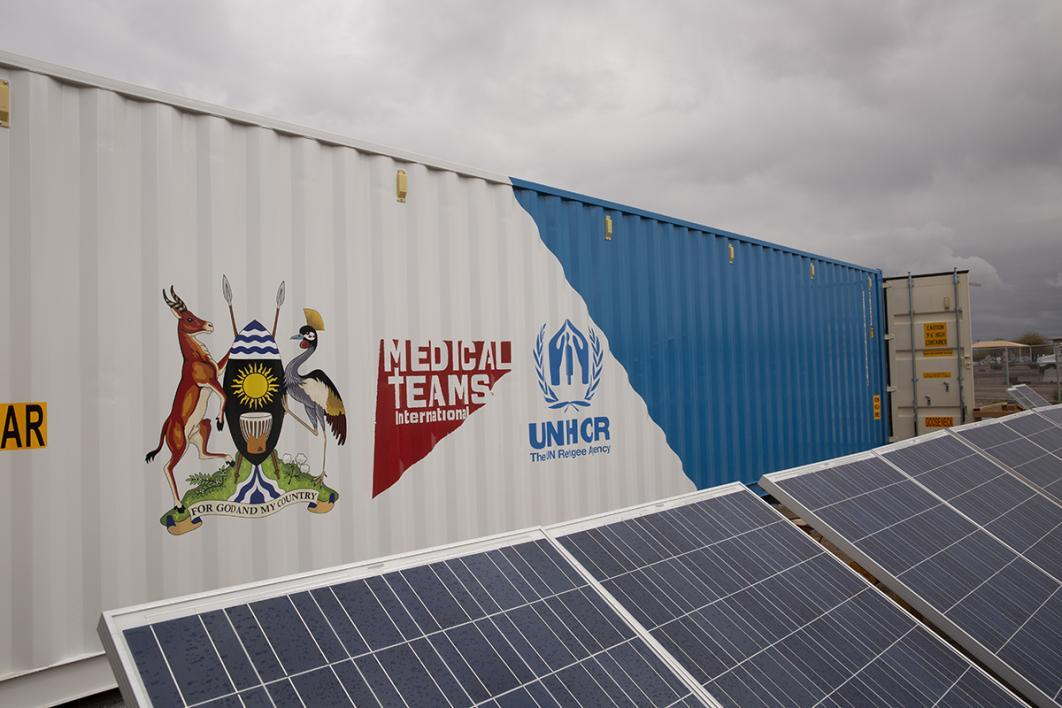 Solar panels will power the medical clinic once it arrives in Uganda.