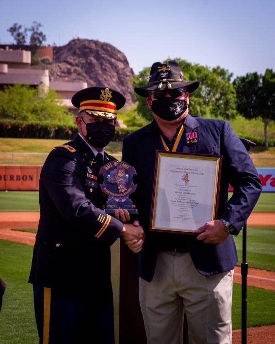 Col. James Sink and ASU Alum Col. James Barker