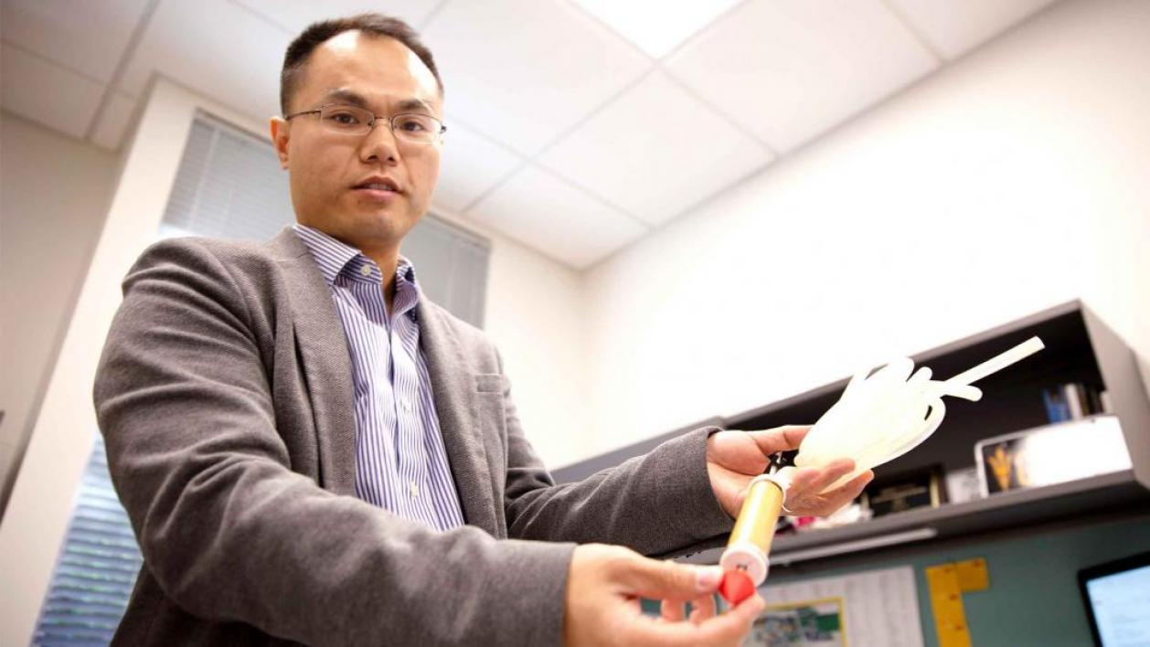 "Associate Professor Junliang ""Julian"" Tao is one of 10 Ira A. Fulton Schools of Engineering faculty members to receive a National Science Foundation CAREER Award for 2018 to 2019. He is exploring unique methods of mobility animals and plants use to move u"