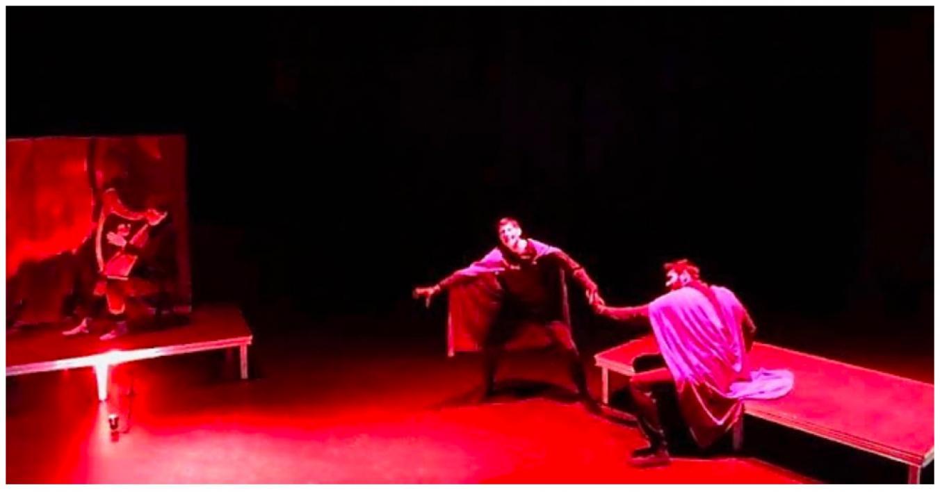 'Beowulf' performance stage image / Photo courtesy Chris Vinsonhaler