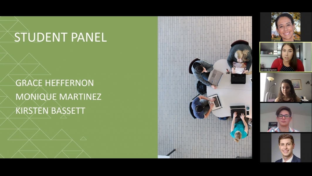 A panel of UA Engineering Ambassadors and The Challenge mentors, assisted by UA Engineering staff member Leslie Grignon, share what it's like to be an engineering student at UA.
