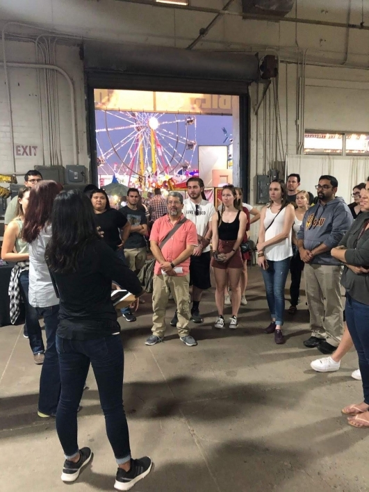 Students learn about exhibitions at the Arizona State Fair