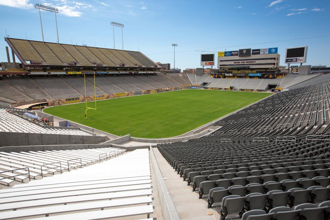 new seats in Sun Devil Stadium