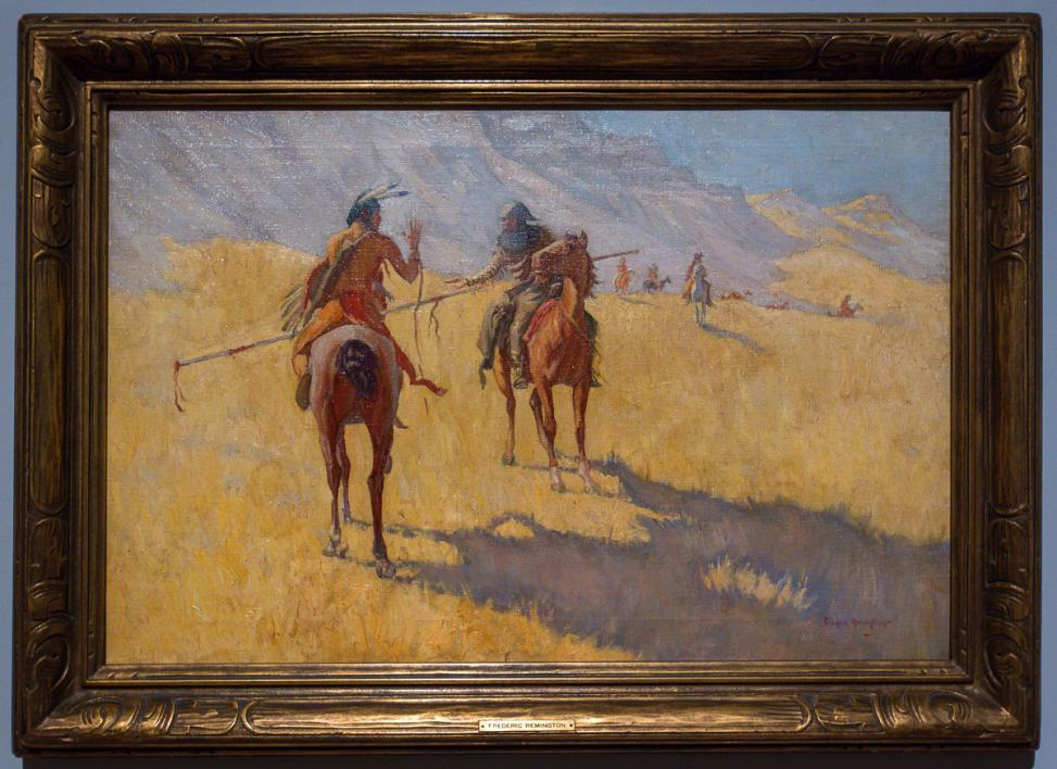 Painting of people on horses