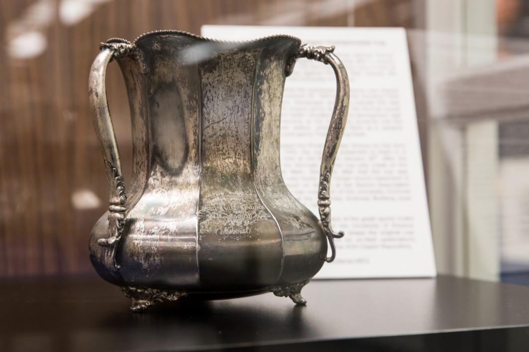 Territorial Cup trophy on display