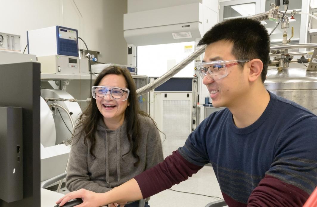 Rajh and postdoctoral fellow, Lei Sun