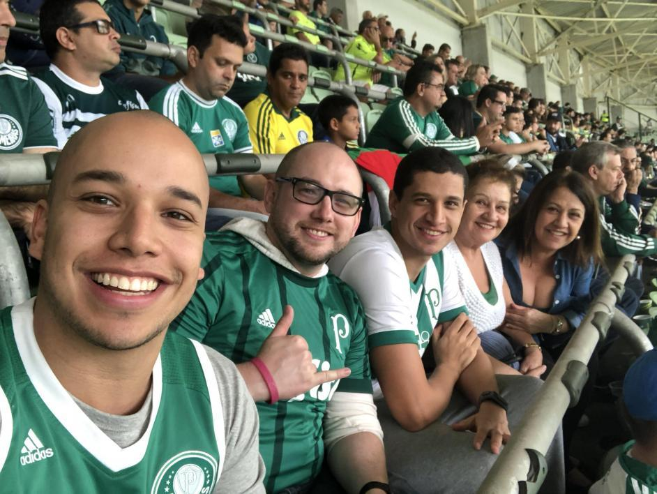 group of people at soccer game