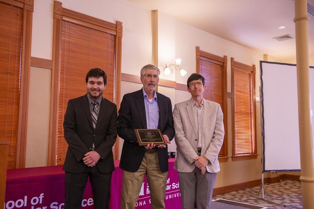 Steimle receiving award