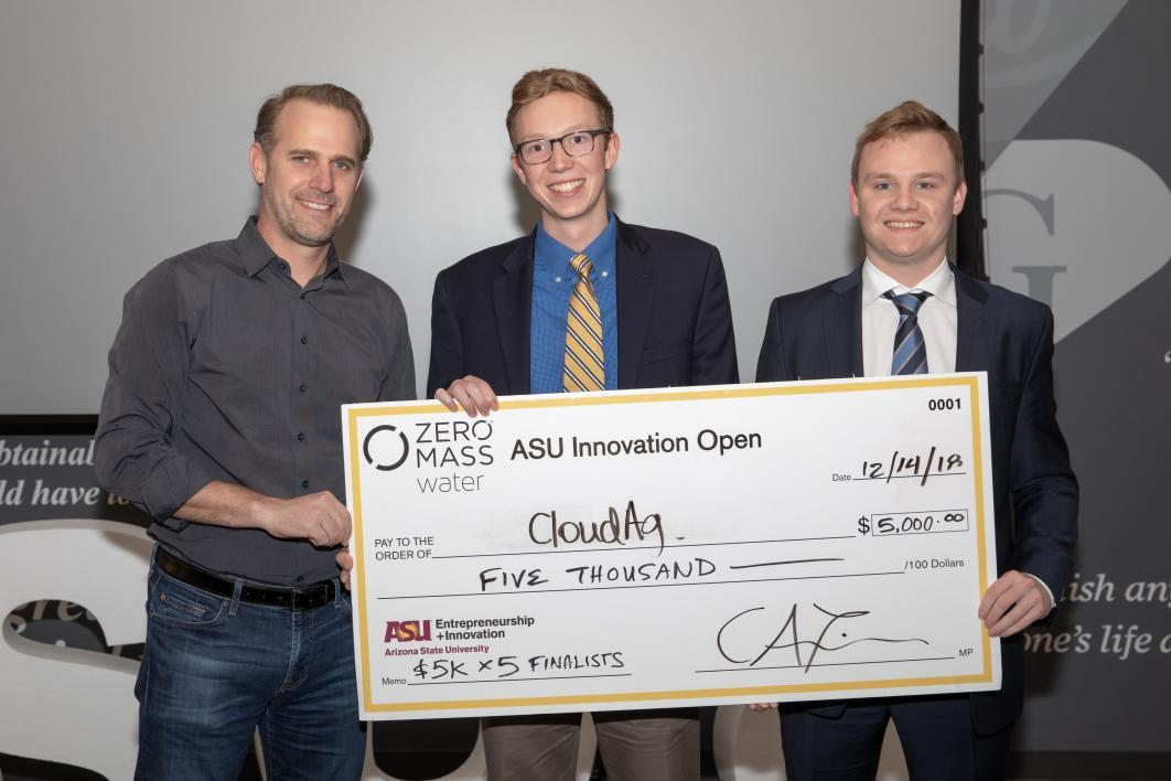 ASUio semifinalist CloudAg wins $5,000 at ASU Innovation Open