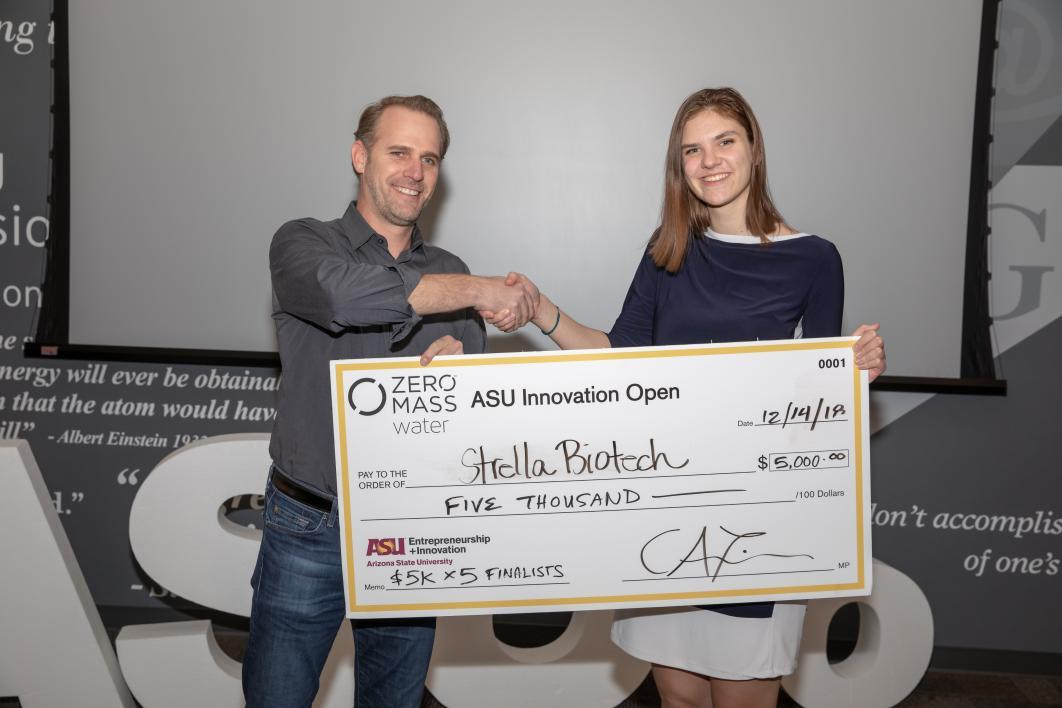 ASUio semifinalist Strella Biotech wins $5,000 at ASU Innovation Open