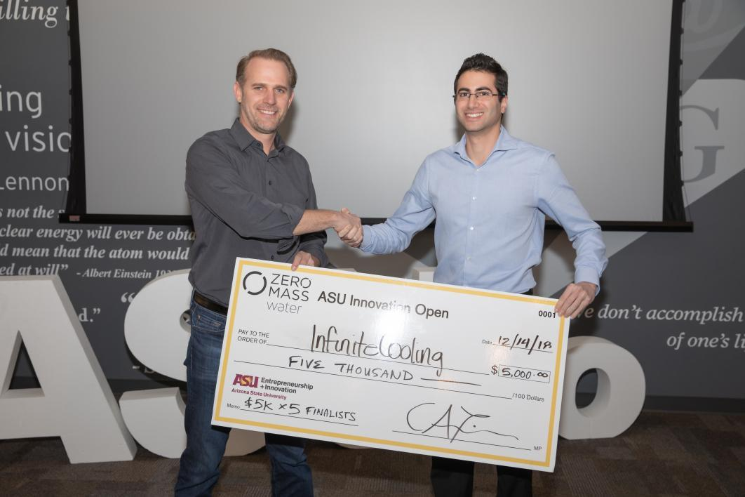 ASUio semifinalist Infinite Cooling wins $5,000 at ASU Innovation Open