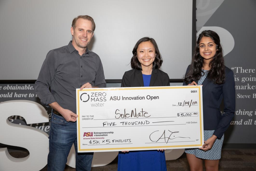 ASUio semifinalist SoleMate Solutions wins $5,000 at ASU Innovation Open