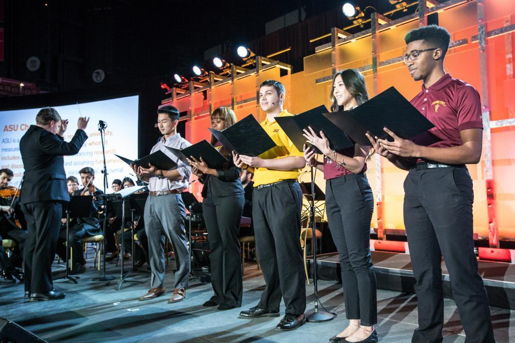 Students perform at a fundraiser