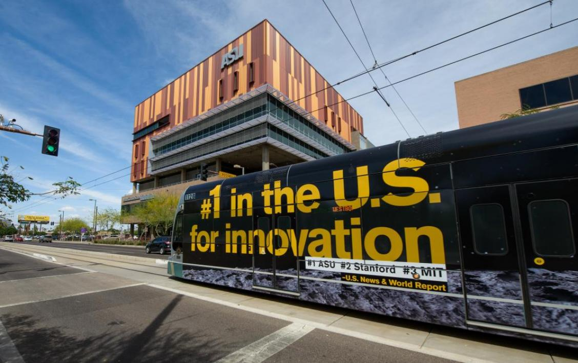 Downtown Phoenix campus with light rail