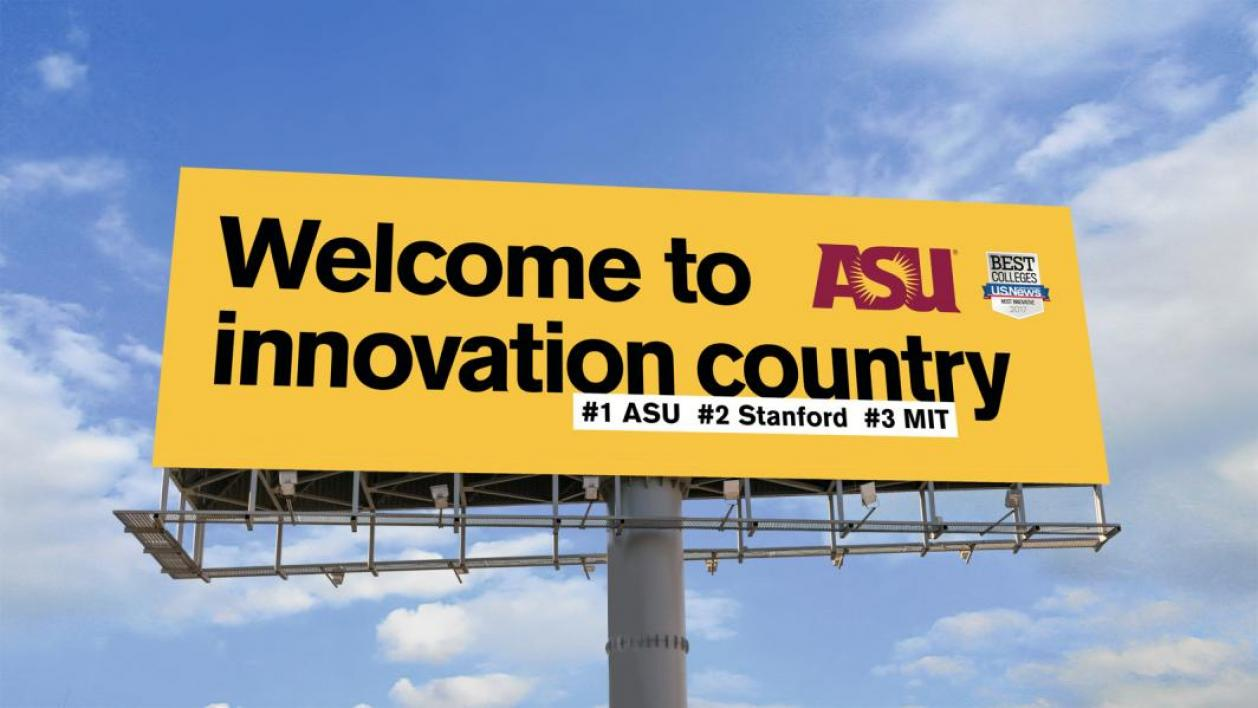 ASU innovation billboard