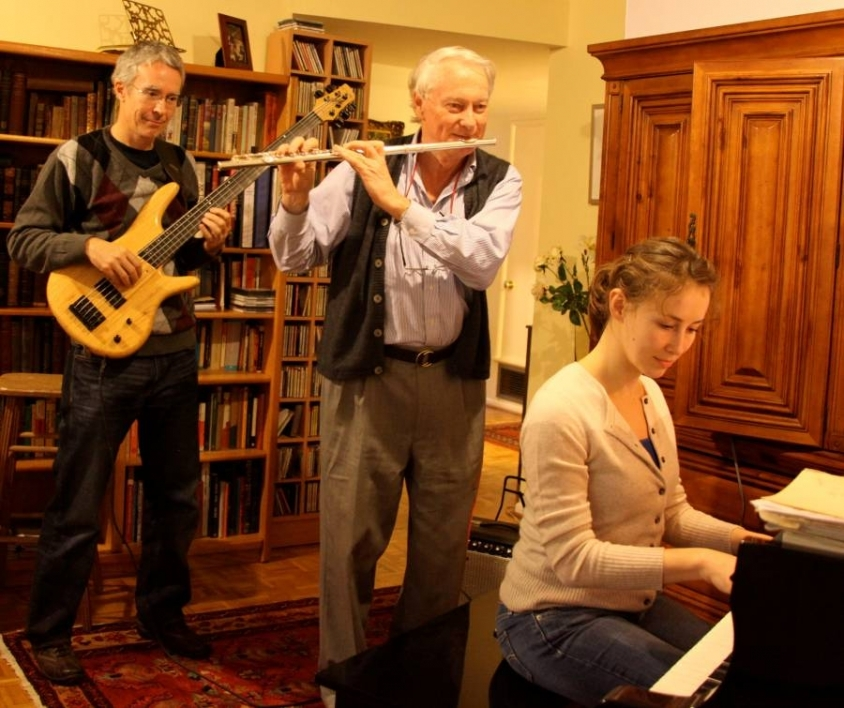 John Spence playing music with colleagues