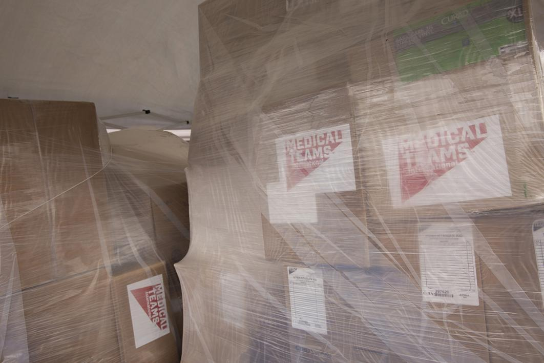 Supplies are provided by Medical Teams International