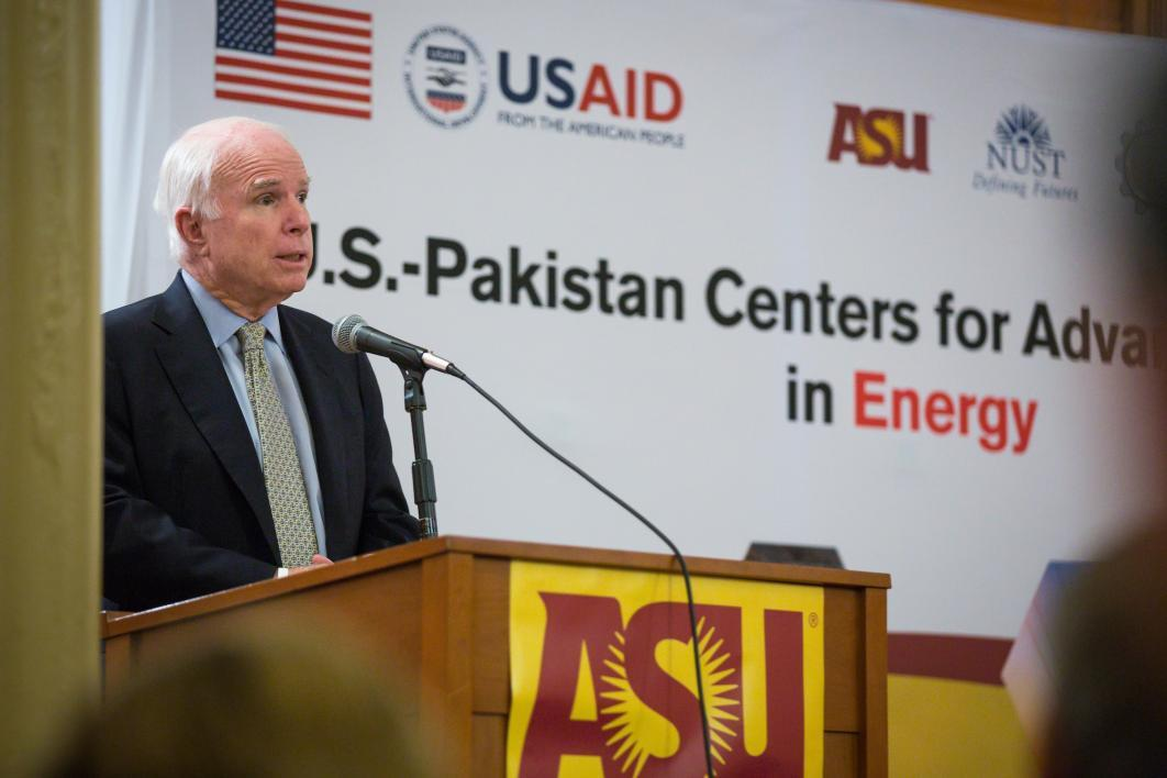 Sen. John McCain at an energy conference at ASU
