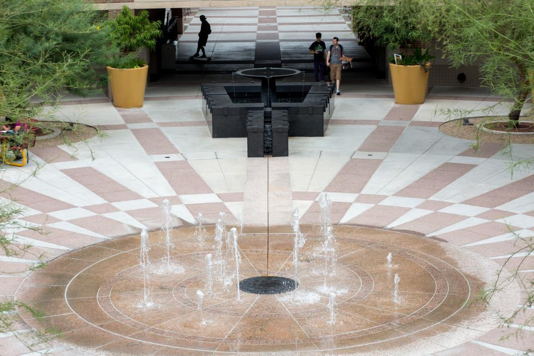 courtyard fountain