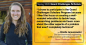 """Brielle Januszewski: """"I chose to participate in the Grand Challenges Scholars Program because I liked the focus on creating a well- rounded education to tackle large, overarching problems and learn more about the other aspects of a problem..."""""""