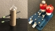 Left: a prototype of the marker dropper made from recycled materials. Right: the final verison of the marker dropper.