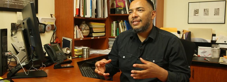 Carnell Chosa in his office in Santa Fe