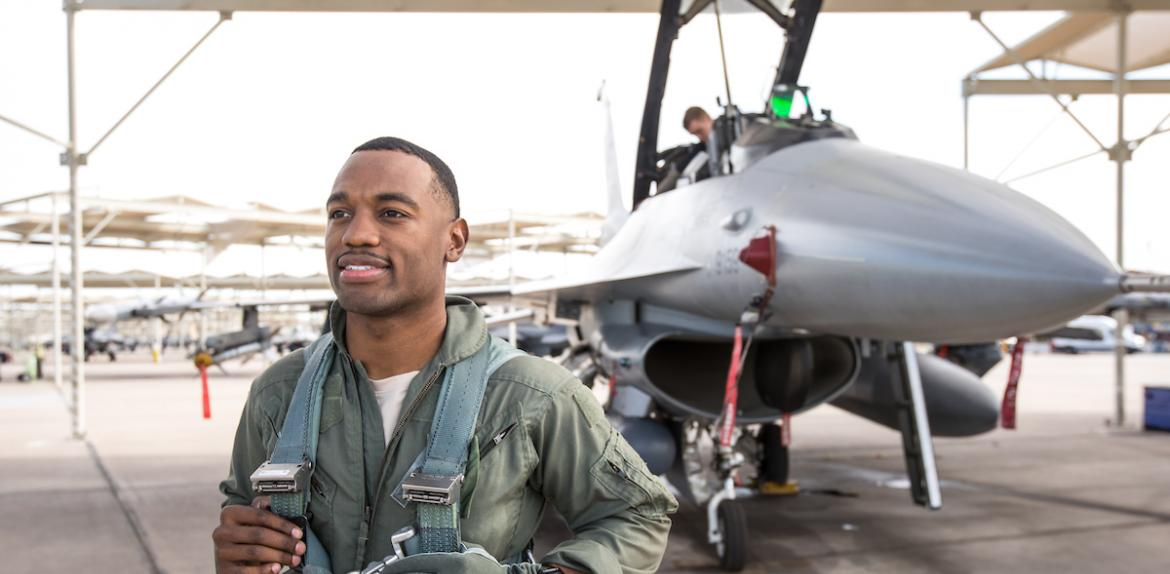 ASU Grad Student Anthony Lawrence at Luke AFB
