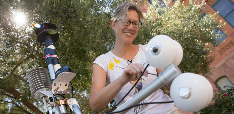 ASU urban climatologist Ariane Middel