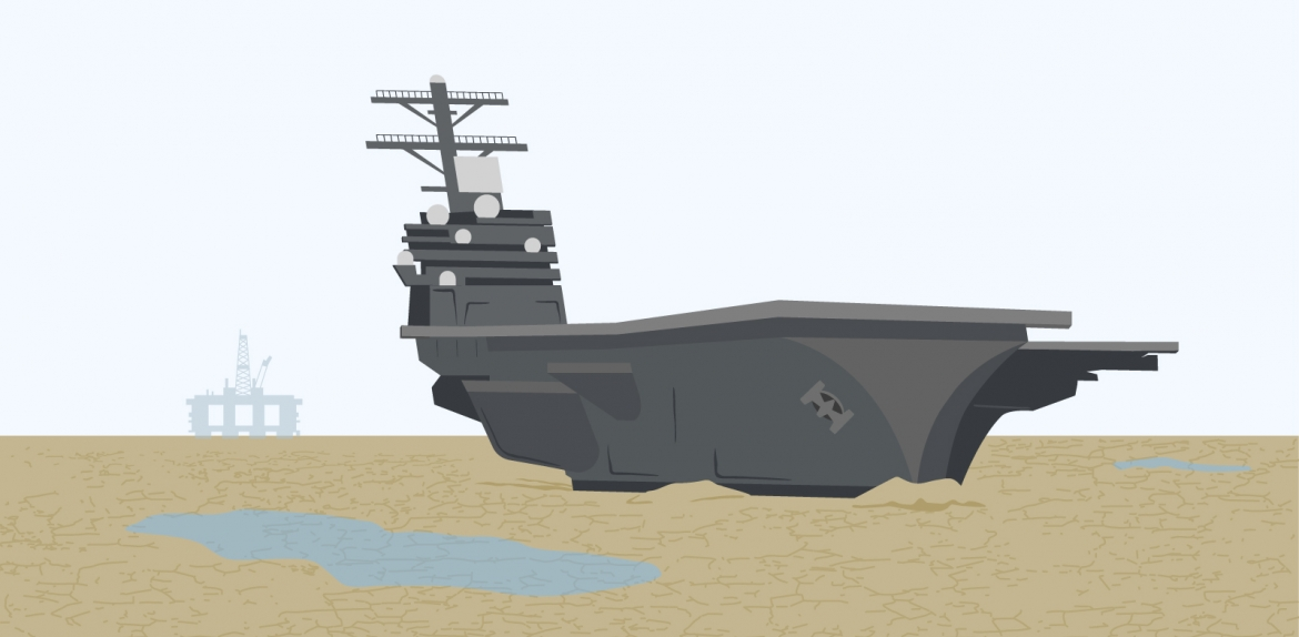 art of beached aircraft carrier