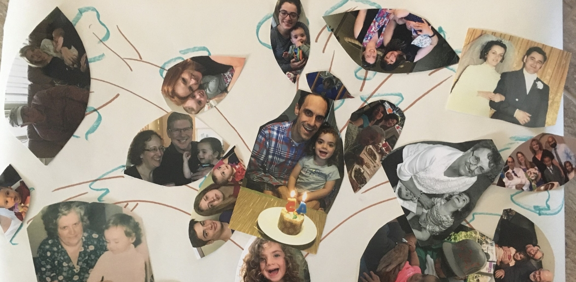 student project collage of family photos