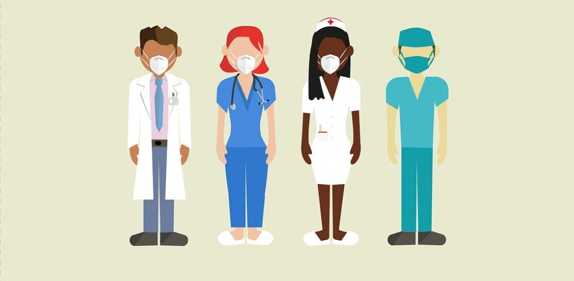 Pixabay illustration of medical personnel