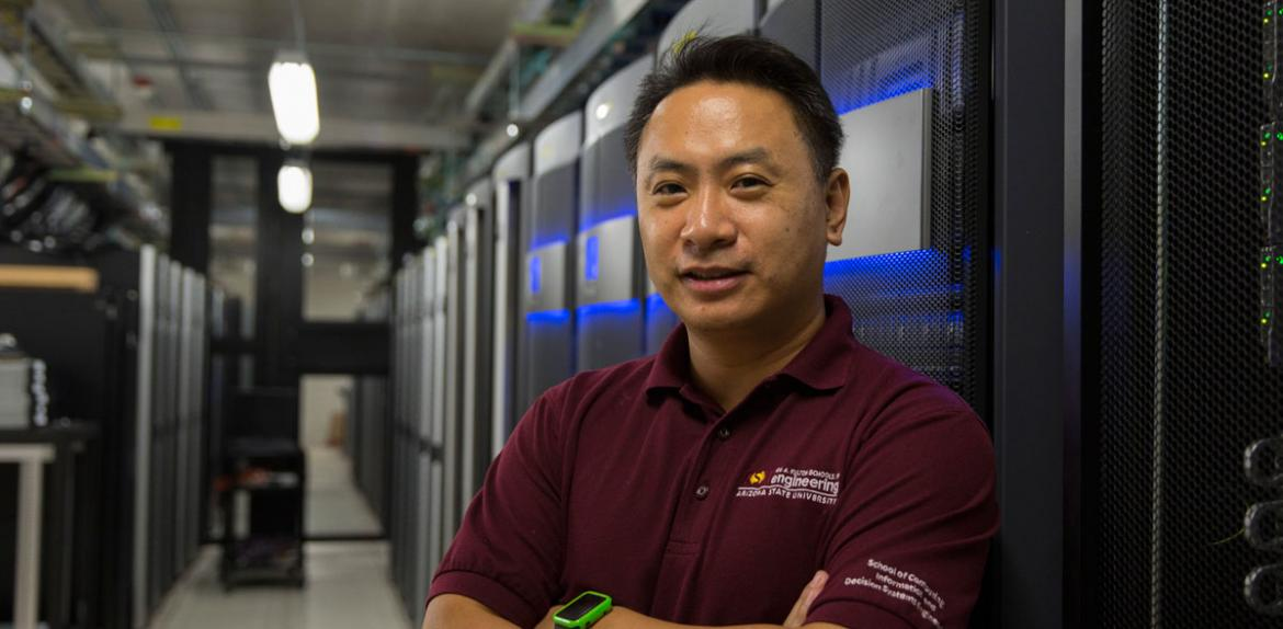 Fulton Entrepreneurial Professor Dijiang Huang created a cloud-computing-based virtual lab students get better access to a hands-on lab that mirror real-world computer networking systems