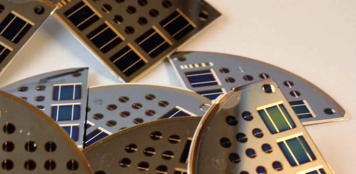 Thin film cells for solar power.