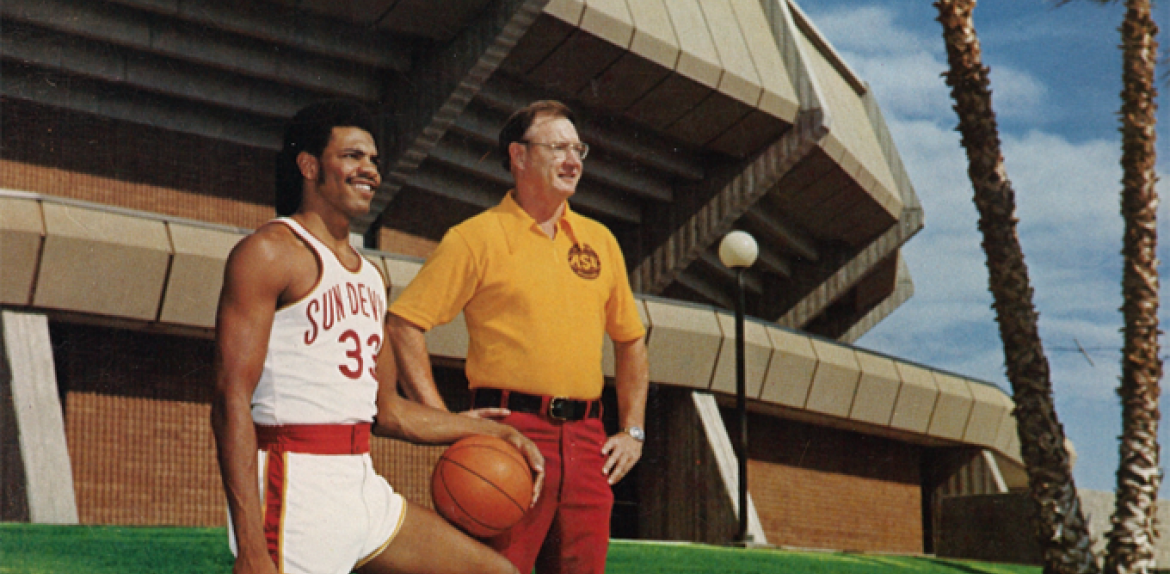 Lionel Hollins and Coach Ned Wulk