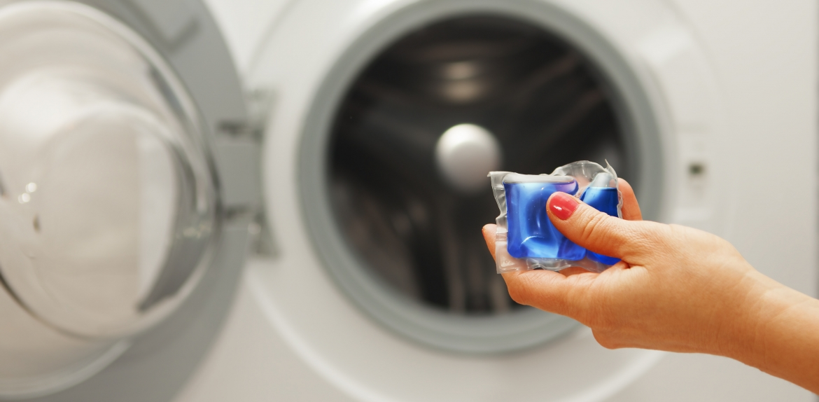 The plastic coating around laundry pods need specific conditions to biodegrade.