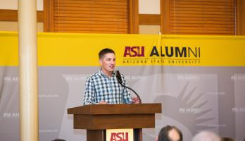 ASU alumni Carson Holmquist