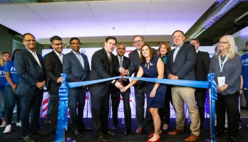 Infosys ribbon cutting