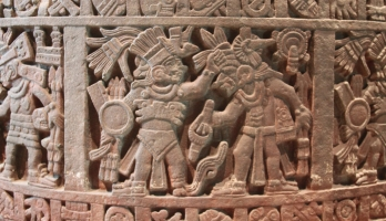 Stone Cuahxicalli: Aztec Stone Cuauhxicalli of Moctezuma
