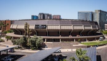 Exterior photo of Desert Financial Arena