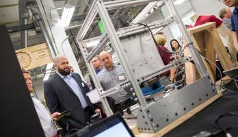 ASU faculty and students demonstrated projects and research at the Manufacturing Research and Innovation Hub