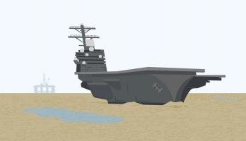 art of beached aircraft carrier