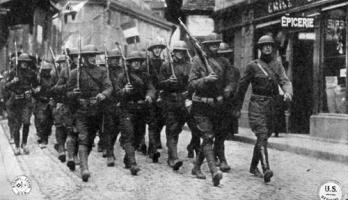 Marching through France