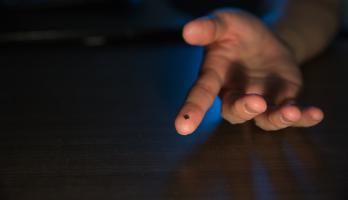 A microchip on a fingertip
