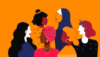 illustration of a variety of women of color