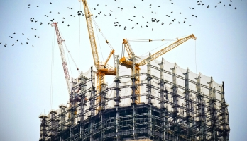 cranes and contruction