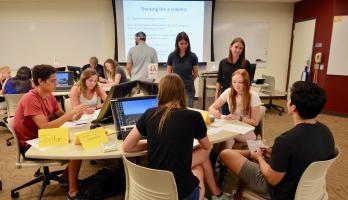 Undergraduate biology classroom