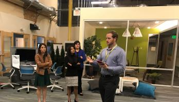 2018 EFIHL Fellows visit the Garfield Innovation Center in San Leandro, CA