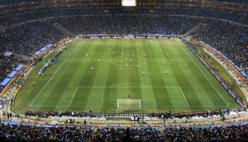 Soccer stadium in South Africa