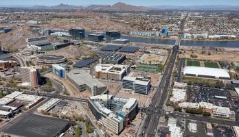 Aerial view of Novus Innovation Corridor