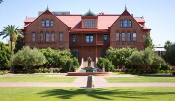 outside view of Old Main building on Tempe campus